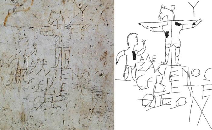 Alexamenos graffito - composite